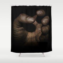 Working Man's Hand Shower Curtain