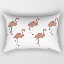 Flamingo Watercolor Rectangular Pillow