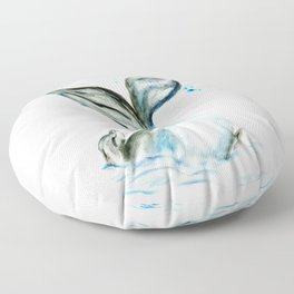 Whale tail Floor Pillow