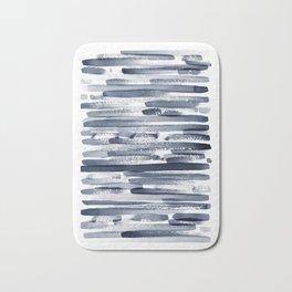 Abstract Navy Blue Print Bath Mat