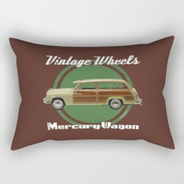 Vintage Wheels: Mercury Wagon Rectangular Pillow