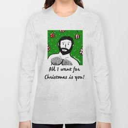 Beard Boy: Al I want for Christmas Long Sleeve T-shirt
