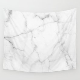 Pure Solid White Marble Stone All Over Wall Tapestry