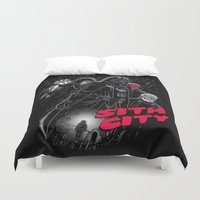 sith Duvet Covers featuring Sith City (design by Andriu and Legendary Phoenix) by Legendary Phoenix