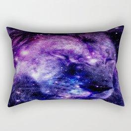 Lion Leo purple blue Rectangular Pillow