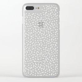 SILVER STARS CONFETTI Clear iPhone Case