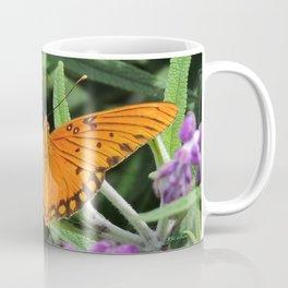 A Gulf Fritillary Shows Wear and Tear Coffee Mug
