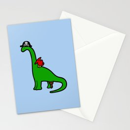 Pirate Dinosaur - Brachiosaurus Stationery Cards