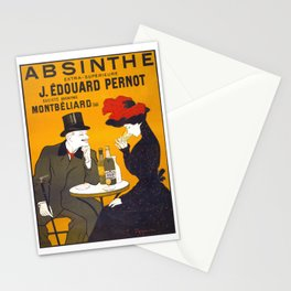 Absinthe Vintage Poster Advertisment - Art Nouveau Stationery Cards