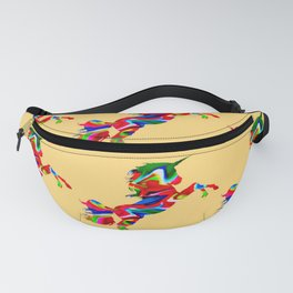 Watercolor unicorn-Orange Fanny Pack