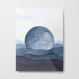 Moon Landscape Metal Print