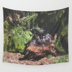 The king of the cats Wall Tapestry