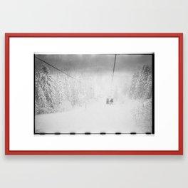 Ski Lift Lomo Snowboard Snow Winter Framed Art Print