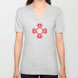 just red Unisex V-Neck