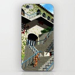 Optical Illusion - Tribute to Escher iPhone Skin