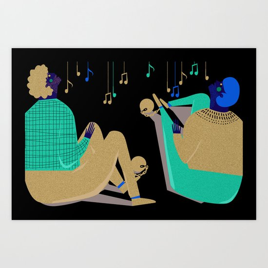 Paul and Silas Singing in Prison (By Alice Potter) Art Print