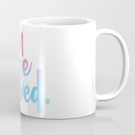 You are loved. (hand lettered) Coffee Mug