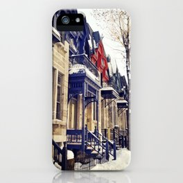 rue Laval -  Montreal iPhone Case