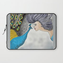 Peacock and Lady Laptop Sleeve