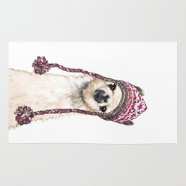 The Llama with Hat Rug