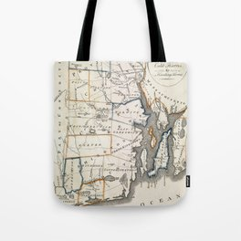 Map of Rhode Island 1818 Tote Bag