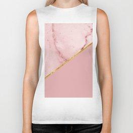 Geometric Pink Marble Biker Tank