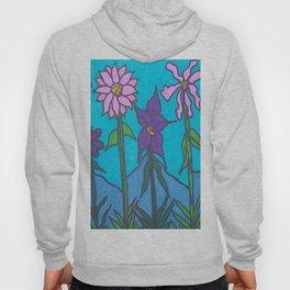 Blue Mountain Flowers Hoody