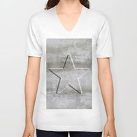 solid V-neck T-shirts featuring Solid Star by LebensART