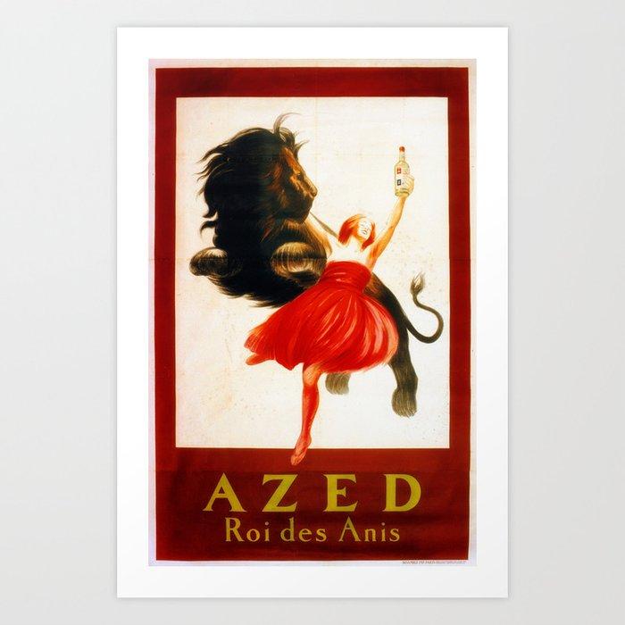 Vintage poster french king Anis Azed Kunstdrucke