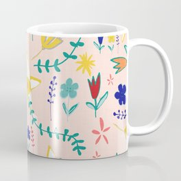 Floral The Tortoise and the Hare is one of Aesop Fables pink Coffee Mug