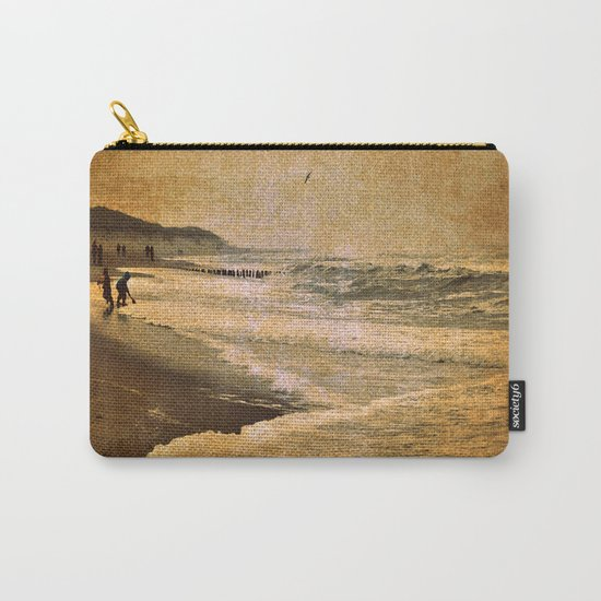 vintage beach sea Carry-All Pouch