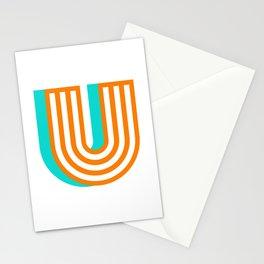 Letter U Stationery Cards