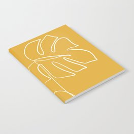 Monstera minimal - yellow Notebook