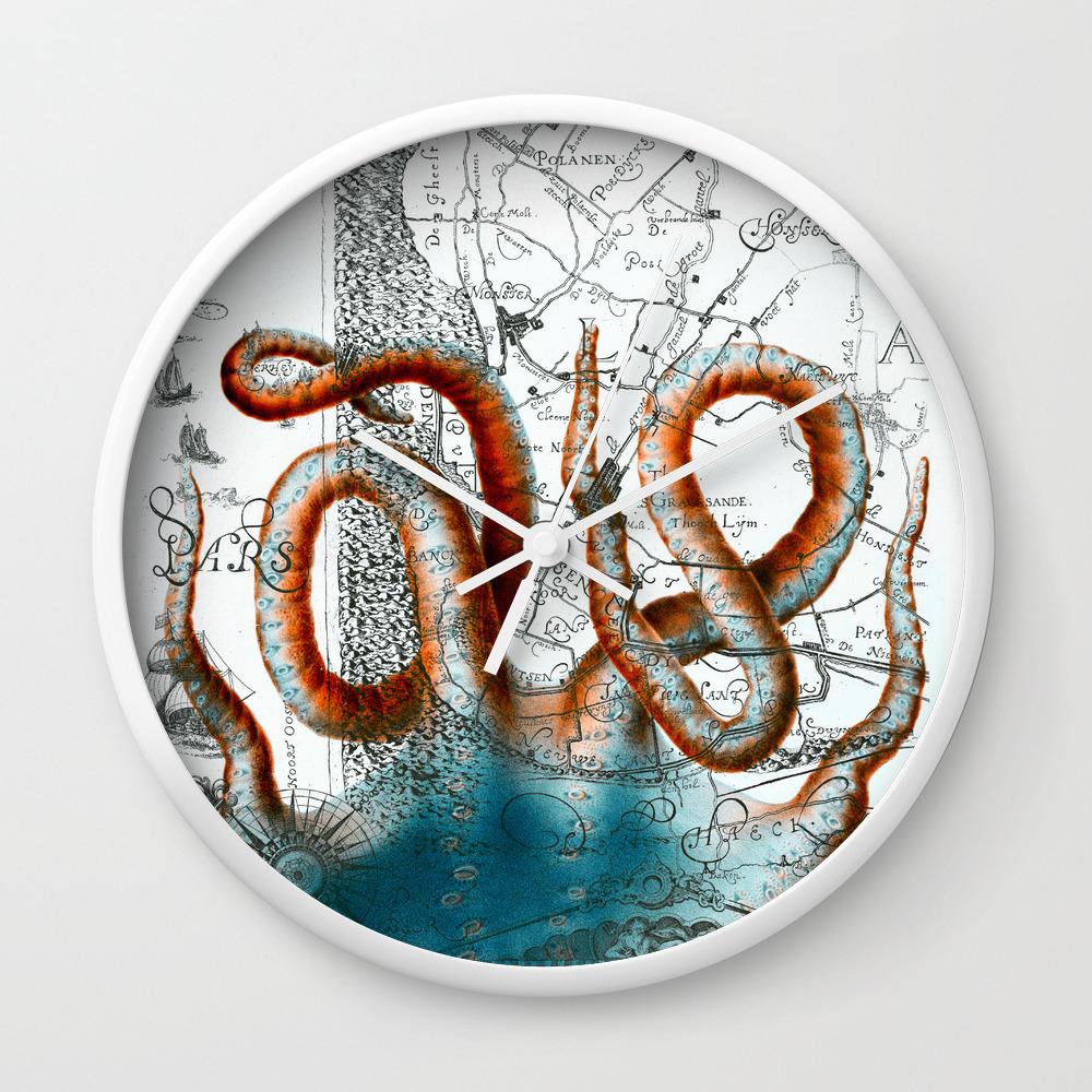 "Nautical Wheel 3 Personalized 10/"" Wall Clock  Nautical Decor Gift Vintage"