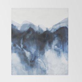 Abstract Indigo Mountains Throw Blanket