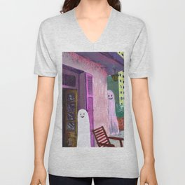 ghost house Unisex V-Neck