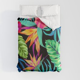 Drive You Mad Hibiscus Pattern Duvet Cover
