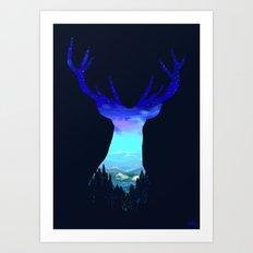 Deer Country Art Print