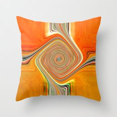 Abstract.Orange+Lemon. Throw Pillow
