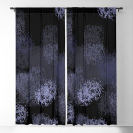 Blue lights Blackout Curtain