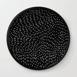 storm | black Wall Clock