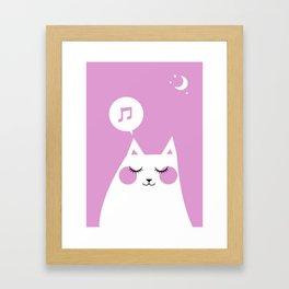 Sound Asleep Cat Framed Art Print