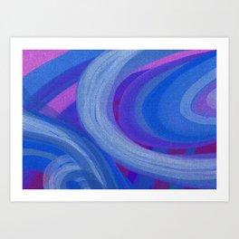 Blue Rings Art Print