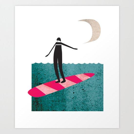 Lady Boarder Art Print