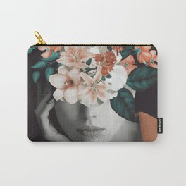 WOMAN WITH FLOWERS 7 Carry-All Pouch