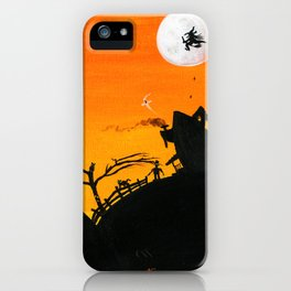 Hilly Haunted Houses iPhone Case
