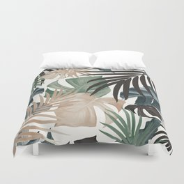 Tropical Jungle Leaves Pattern #13 (Fall Colors) #tropical #decor #art #society6 Duvet Cover