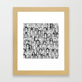 WOMEN OF THE WORLD BW Framed Art Print