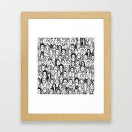 WOMEN OF THE WORLD BW Framed Art Print