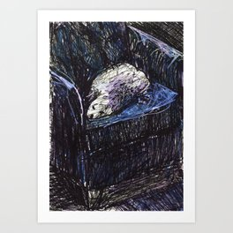 White dog Art Print